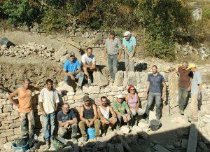 L'équipe qui a réalisé la restauration